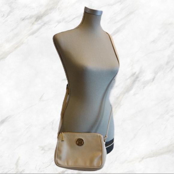 Tommy Hilfiger | Cream Faux-Leather Crossbody Bag